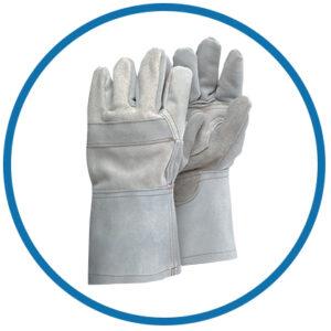Kožené rukavice na pieskovanie CONTRACOR