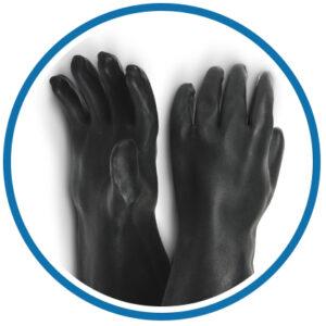 Gumené rukavice na pieskovanie RGS/RGA